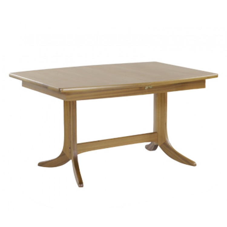 Nathan oak 2145 shades small boat shaped pedestal dining table for Small pedestal dining table
