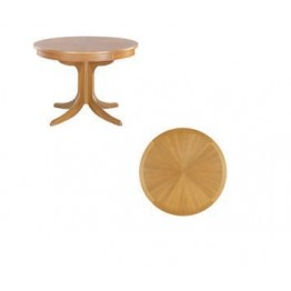2164 Nathan Shades Circular Pedestal Dining Table with Sunburst Top