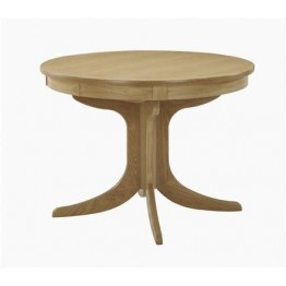 Nathan Oak 2165 Circular Pedestal Dining Table with Sunburst Top