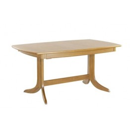 2174 Nathan Shades Extending Boat Shaped Pedestal Dining Table