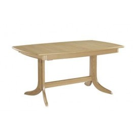 Nathan Oak 2175 Extending Boat Shaped Pedestal Dining Table