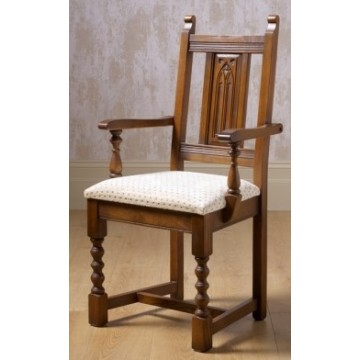 2287 Wood Bros Old Charm Aldeburgh Carver Chair in Fabric