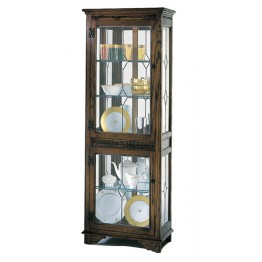 2376 Wood Bros Old Charm 2 Door Disiplay Cabinet with Light