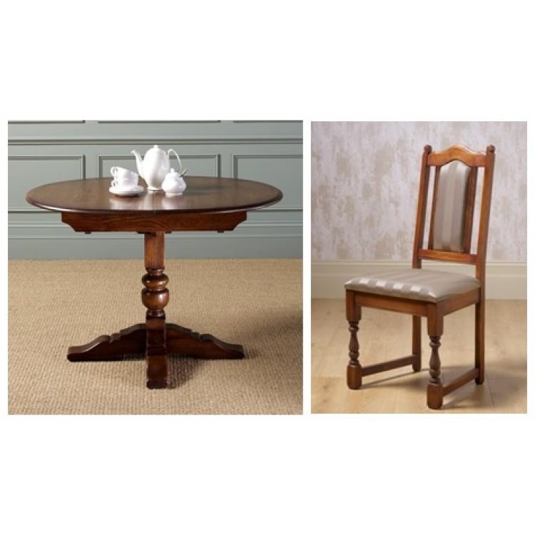 Old Charm Dining Set Comprising 2472 Aldeburgh Dining Table 4 2067 Lanc