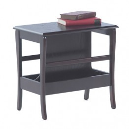 3821 Sutcliffe Hampton Mahogany Occasional Table With Magazine Rack