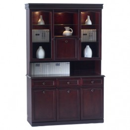 3850 Sutcliffe Hampton Mahogany Combination Unit