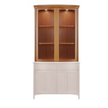 4044 Nathan Shades Shaped 2 Door Display Top with 1904 2 Door Sideboard Base (NSH-4044-TK & NSH-1904-TK)