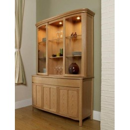 Nathan Oak 4805 Shaped Glass Door Display Top Unit