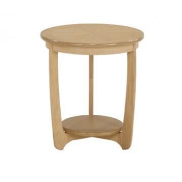 Nathan Oak 5345 Furniture Shades Large Sunburst Round Lamp Table NSH-5345-OK