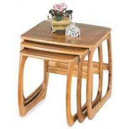 5634 Nathan Classic Burlington Nest of Three Tables in Teak NCL-5634-TK