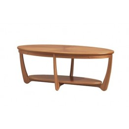 5844 Nathan Shades Sunburst Top Oval Coffee Table