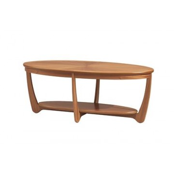 5844 Nathan Shades Sunburst Top Oval Coffee Table NSH-5844-TK