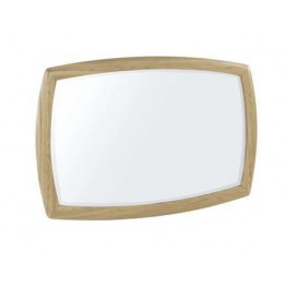 Nathan Oak 5865 Shaped Wall Mirror
