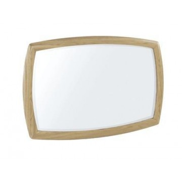Nathan Oak 5865 Shaped Wall Mirror NSH-5865-OK