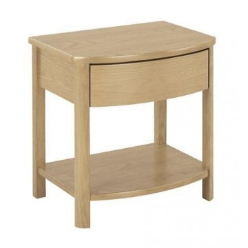 Nathan Oak 5905 Shaped Lamp Table NSH-5905-OK