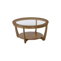 5914 Nathan Shades Glass Top Round Coffee Table