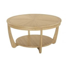 Nathan Oak 5925 Sunburst Round Coffee Table NSH-5925-OK