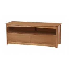 5934 Nathan Shades Shaped TV Unit with Drawers