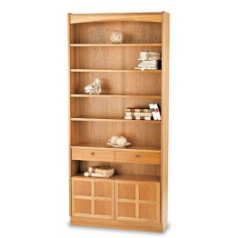 6404 Nathan Classic Tall Bookcase With Doors NCL-6404-TK
