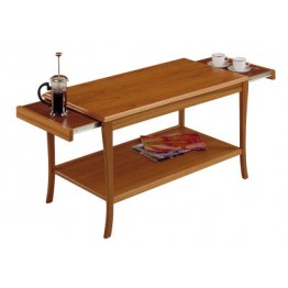 835 Sutcliffe Sofa Table With Pull Out Heat Resistant Slides