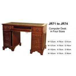 4 x 2 Computer Desk | Reproduction Desk | Mahogany Desk | Yew Desk