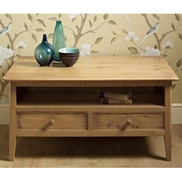 Old Charm Ludlow LD2940 - 2 Drawer Coffee Table - END OF LINE CLEARANCE PRICES - EVERYTHING MUST GO !