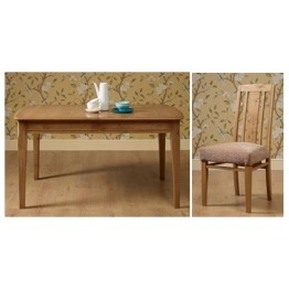Old Charm Ludlow LD2971 Dining Table Set - Table & 4 Chairs - END OF LINE CLEARANCE PRICES - EVERYTHING MUST GO !