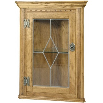 2770 Wood Bros Old Charm Hanging Corner Cabinet
