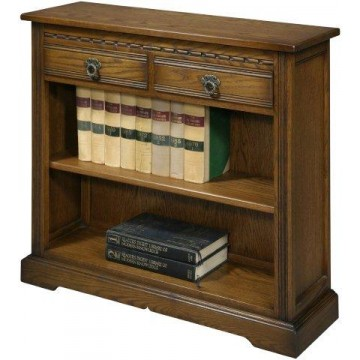 2792 Wood Bros Old Charm Low Open Bookcase with Drawers