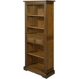 2794 Wood Bros Old Charm Narrow Bookcase with Drawer