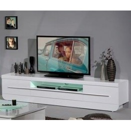 Sciae Furniture Floyd TV Unit - 36 White - N0 38 TV Hifi bench with 2 doors and 1 drawer