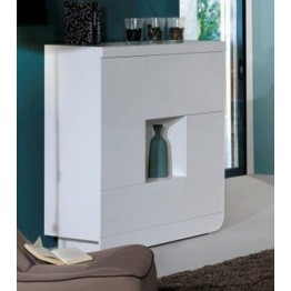 Sciae Furniture Floyd Cupboard - 36 White - No 3 Storage Element with 2 doors and 2 flaps