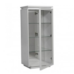 Sciae Furniture Electra Glass Display Cabinet - 36 White - No 1 Glass display unit