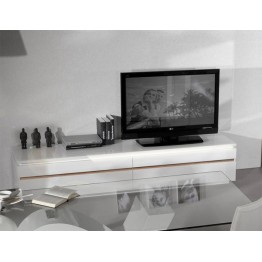 Sciae Furniture Electra TV Unit - 36 White - No 38 Large TV HIFI bench with lights