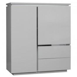 Sciae Furniture Electra 2 Door 2 Drawer Unit - 36 White - N2 Storage Element with light