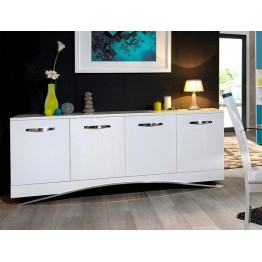 Sciae Furniture Smooth 4 Door Sideboard - 36 White - No 14 4 Door Sideboard