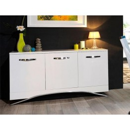 Sciae Furniture Smooth 3 Door Sideboard - 36 White - No 29 3 Door Sideboard