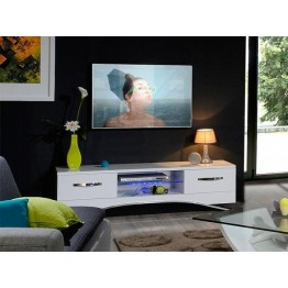 Sciae Furniture Smooth TV Bench - 36 White - No 38 TV Bench