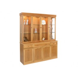 863 Sutcliffe four door display unit with mirrored back (863B Base with 863M Top with Mirrors)