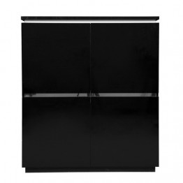 Sciae Furniture Electra 38 Black - No 3 Storage Element Cupboard  4 Doors with lights