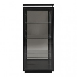 Sciae Furniture Electra 38 - Black - No 1 Glass display unit