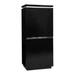 Sciae Furniture Electra 38 - Black - N∞43 Storage ElÈment Cupboard 2 Doors with lights