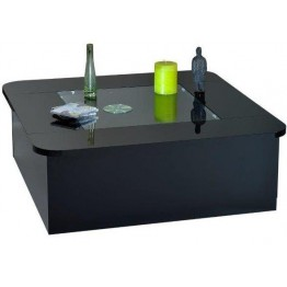 Sciae Furniture Floyd Coffee Table - 38 Black - No 12 Coffee Table with Flap