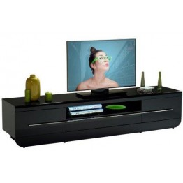 Sciae Furniture Floyd TV Unit - 38 Black - No 38 TV Hifi bench with 2 doors and 1 drawer