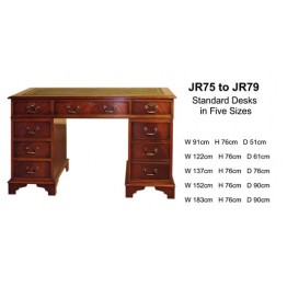 "4'6"" x 2'6""  Double Pedestal Classic Desk 