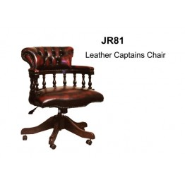 Leather Captains Chair | Reproduction leather chair | Reproduciton Furniture