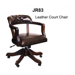 Leather Court Chair | Reproduction Furniture