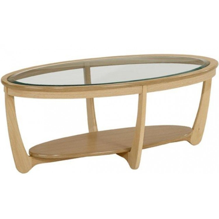 Oval Oak Coffee Table Uk: Nathan Oak Coffee Table