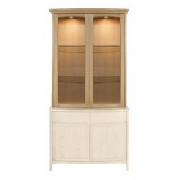 Nathan Oak 4045 Shaped Glass 2 Door Display Top Unit