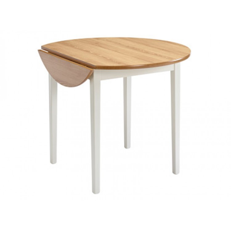 1124 Sutcliffe Tufftable Collection Drop Leaf Round Top With Legs Table